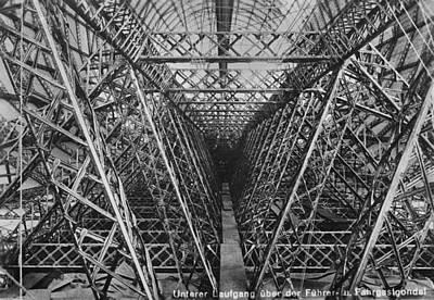 Symmetry Photograph - Zeppelin Lz 127 by Fox Photos