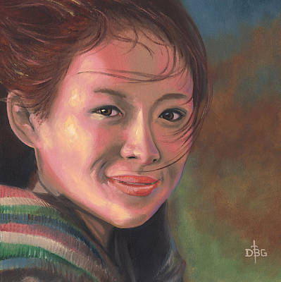 Painting - Zhang Ziyi by David Bader