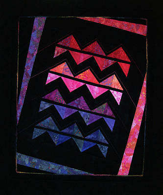Tapestry - Textile - Zig Zag Twist by Pam Geisel