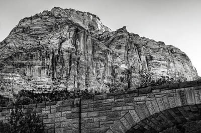 Photograph - Zion National Park Bidge As Sunrise by Phil Cardamone