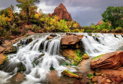 Photograph - Zion Park Waterfalls by Michael Ash