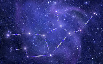 Photograph - Zodiacal Constellations. Virgo by Sololos