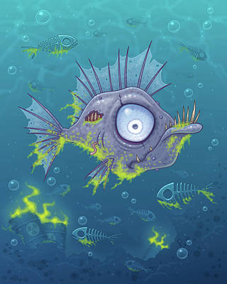 Royalty-Free and Rights-Managed Images - Zombie Fish by John Schwegel