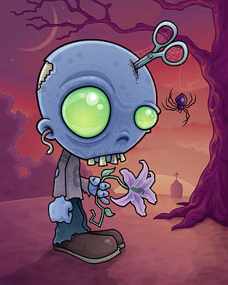 Royalty-Free and Rights-Managed Images - Zombie Junior by John Schwegel