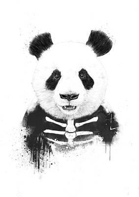 Wildlife Mixed Media - Zombie Panda by Balazs Solti