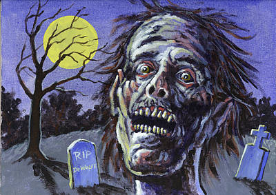 Painting - Zombie by Richard De Wolfe
