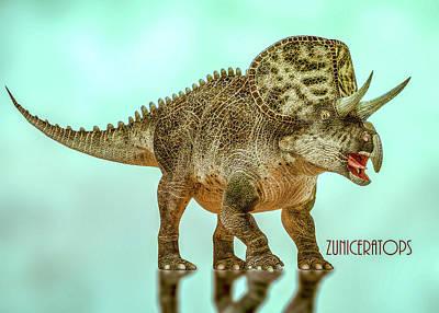 Digital Art - Zuniceratops by Bob Orsillo