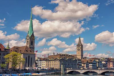 Photograph - Zurich Church View by Liran Eisenberg
