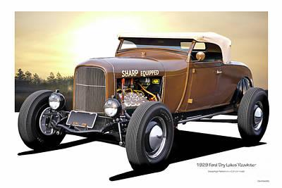 Mistletoe - 1929 Ford Dry Lakes Roadster by Dave Koontz