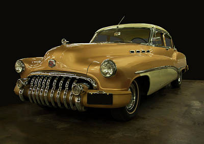 Minimalist Movie Quotes - 1950 Buick Roadmaster by Chris Flees