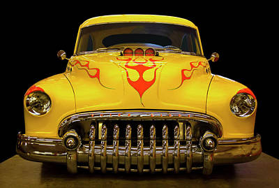 Minimalist Movie Quotes - 1950 Buick Sedanette Hot Rod by Chris Flees