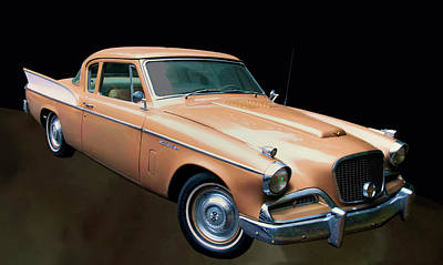 Fall Animals - 1957 Studebaker Golden Hawk by Chris Flees