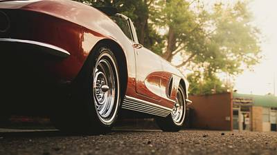 David Bowie Royalty Free Images - 1962 Chevrolet Corvette Convertible  Royalty-Free Image by Christopher Thomas