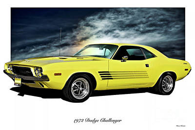 Up Up And Away - 1972 Dodge Challenger by Dave Koontz