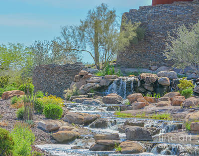 Landscapes Royalty-Free and Rights-Managed Images - A beautiful Waterfall in Goodyear, Maricopa County, Arizona USA by Norm Lane