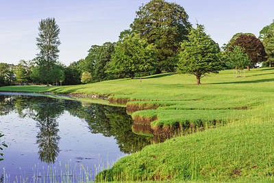 Royalty-Free and Rights-Managed Images - a bend in the River Bela at Dallam Park, Milnthorpe, Cumbria, England by David Ridley