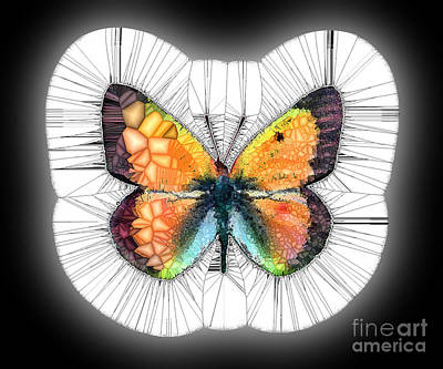 Nirvana - A Butterfly Mosaic of Colors and Spikes by Wernher Krutein