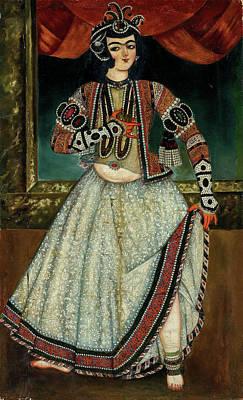 Modern Kitchen - A Qajar Dancing Girl Iran, Circa 1840 by Artistic Rifki