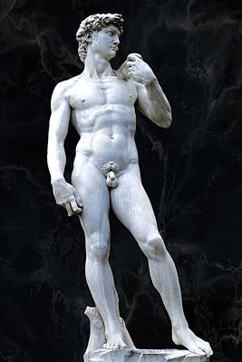 Granger - A Replica of David by Michelangelo, outside the Palazzo Vecchio, Florence, Italy. by Joe Vella