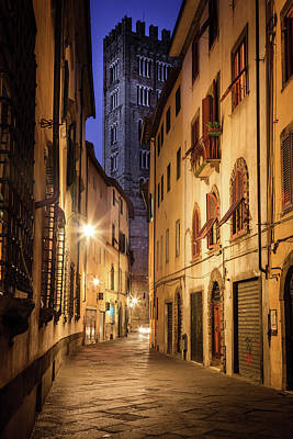 Priska Wettstein Land Shapes Series - A street in Lucca, Italy by Alexey Stiop