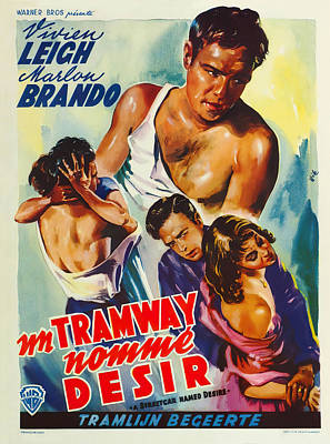 Royalty-Free and Rights-Managed Images - A Streetcar Named Desire, with Marlon Brando, 1951 by Stars on Art