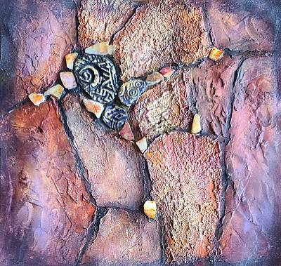 Mixed Media - Abalone Earth II by Terry Ann Morris