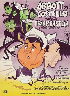 Royalty-Free and Rights-Managed Images - Abbott and Costello Meet Frankenstein, 1948 by Stars on Art