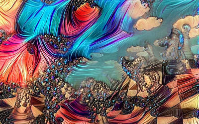 Surrealism Digital Art - Abstract chess by Bruce Rolff