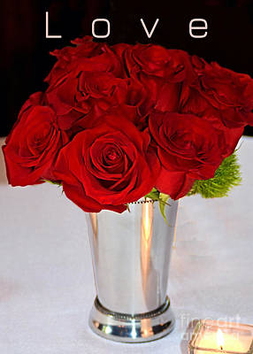 Still Life Royalty-Free and Rights-Managed Images - American Beauty Love Red Roses by Robin Lee Mccarthy Photography