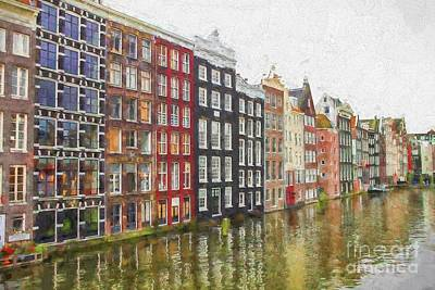 Curated Beach Towels - Amsterdam houses by Patricia Hofmeester