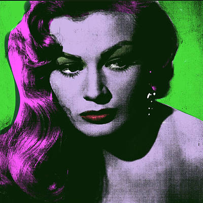 Royalty-Free and Rights-Managed Images - Anita Ekberg pop art by Stars on Art