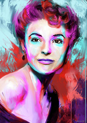Gambling Royalty Free Images - Anne Bancroft Royalty-Free Image by Stars on Art