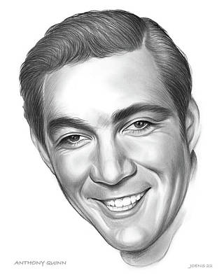 Animals Drawings - Anthony Quinn by Greg Joens