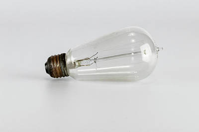 Vintage Buick - Antique Light bulb in porcelain socket by Jack R Perry