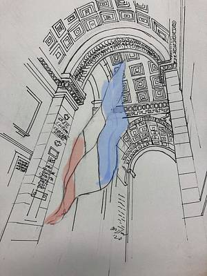 Drawings Royalty Free Images - Arc de Triomphe Royalty-Free Image by Matthew Dodd