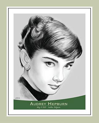 Drawings Royalty Free Images - Audrey Hepburn Royalty-Free Image by Greg Joens