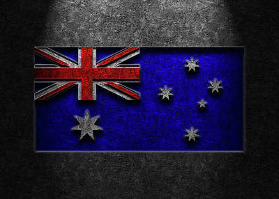 Kitchen Mark Rogan Rights Managed Images - Australian Flag Stone Texture Repost Royalty-Free Image by Brian Carson