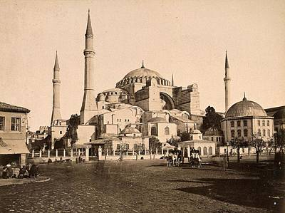Pop Art Rights Managed Images - Aya Sophia, Istanbul, Turkey. Photograph by Guillaume Berggren, ca. 1880 Royalty-Free Image by Artistic Rifki