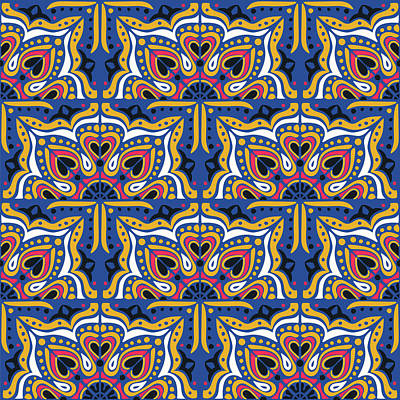 Royalty-Free and Rights-Managed Images - Azulejos portugal seamless pattern by Julien