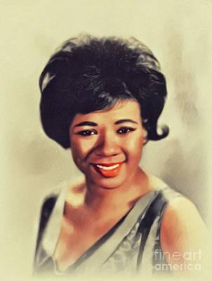 Music Paintings - Barbara Lewis, Music Legend by John Springfield