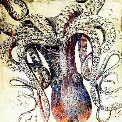 Keith Richards - Bath Maine Octopus by Brandi Fitzgerald