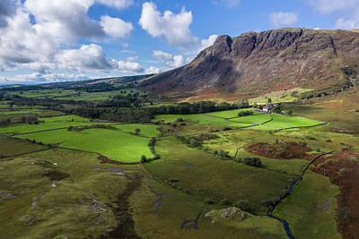 Comedian Drawings Rights Managed Images - Beautiful drone view over Lake District landscape in late Summer Royalty-Free Image by Matthew Gibson