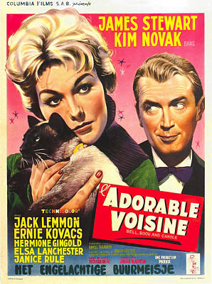 Royalty-Free and Rights-Managed Images - Bell, Book and Candle, with James Stewart and Kim Novak, 1958 by Stars on Art