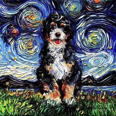 Painting - Bernedoodle by Aja Trier