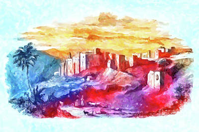 Coy Fish Michael Creese Paintings - Bethlehem in 19th Century by Munir Alawi
