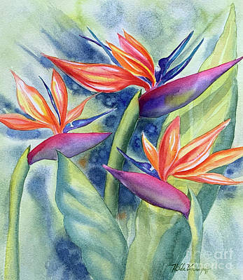 Olympic Sports - Bird of Paradise Flowers by Hilda Vandergriff