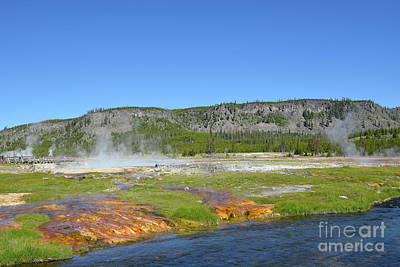 Target Threshold Nature Rights Managed Images - Biscuit Basin Yellowstone National Park Royalty-Free Image by Steve Cukrov