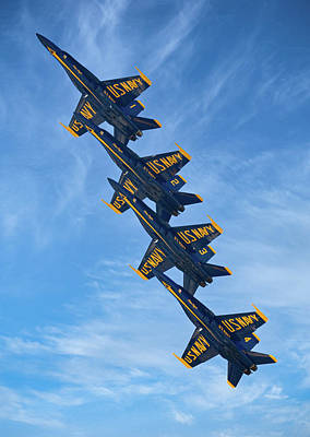 Mountain Landscape Royalty Free Images - Blue Angels Precision Royalty-Free Image by Mark Chandler