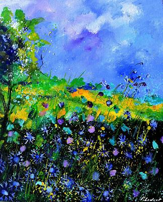 Rose - Blue cornflowers 5671 by Pol Ledent