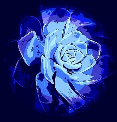 Animal Portraits - Blue Desert Rose by Loraine Yaffe